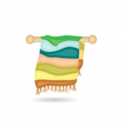 Towel icon vector