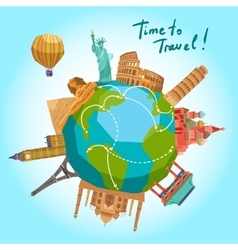 Travel Landmarks Background vector image