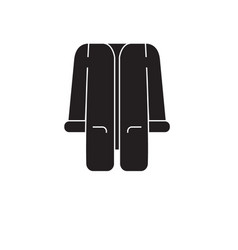 tunic black concept icon tunic flat vector image