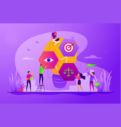 Vision statement concept vector