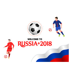 welcome to russia 2018 design template vector image