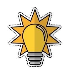 yellow bulb icon vector image