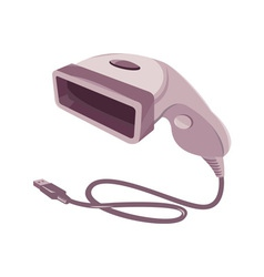 Barcode scanner reader usb cable vector