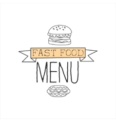 Burger and hot dog premium quality fast food vector