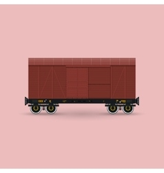 Closed Cargo Wagon Isolated vector image vector image
