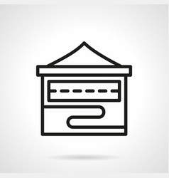 folding stall simple line icon vector image