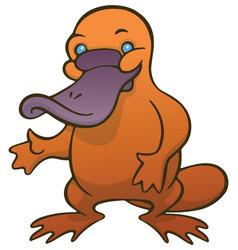 funny cute cartoon platypus or duckbill vector image vector image