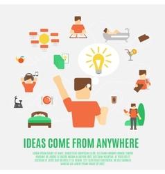 Ideas Concept Flat vector image vector image