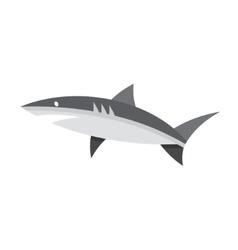 Logotype of shark black and white style flat vector image