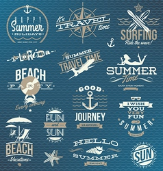 Set of travel and vacation emblems and symbols vector image vector image