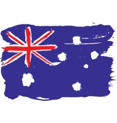 Australia grunge flag vector image