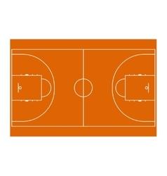 Basketball field for design vector