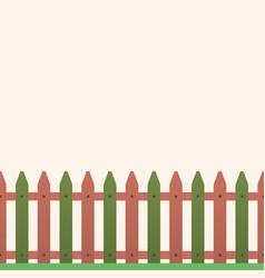 cartoon rural wooden fence vector image vector image
