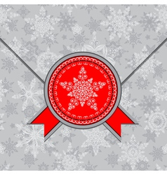 envelope decorated with snowflakes vector image vector image