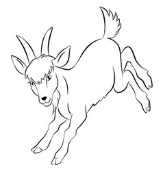 goat silhouette eps 10 vector image