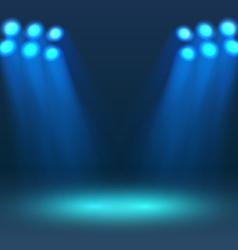 Lighting stadium mast vector image vector image