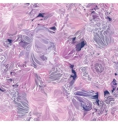 Purple Soft Floral Pattern vector image vector image