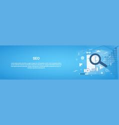 seo optimization concept horizontal web banner vector image vector image