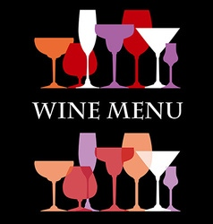 WineMenu vector image vector image