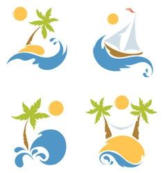 A Sea and a beach vector image