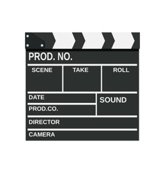 Black opened clapperboard vector image vector image