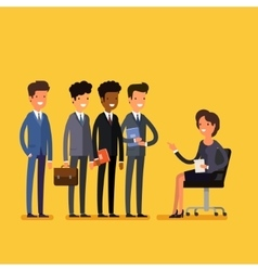 Business job interview concept vector