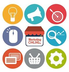 marketing online vector image vector image