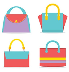 Set Of Colorful Women Bags vector image