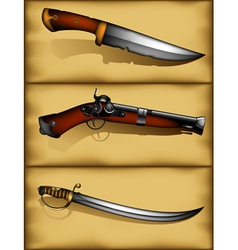 ancient weapons vector image vector image