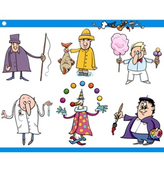 cartoon people occupations characters set vector image