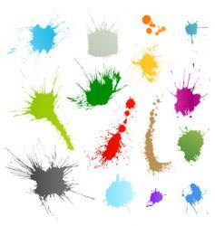 ink splatter vector image vector image