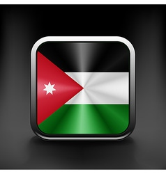 Jordan icon flag national travel icon country vector image vector image