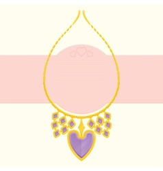 Necklace With Heart vector image vector image