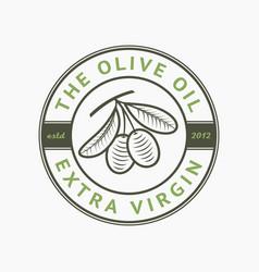 olive oil extra virgin logo label emblem vector image