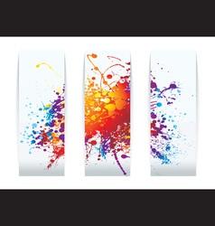raibow ink splat vector image vector image