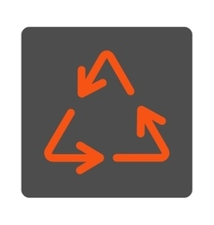Recycle Arrows Rounded Square Button vector image