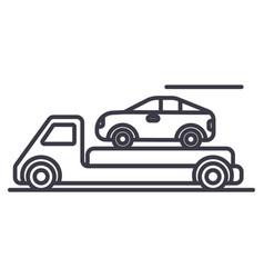 trailertransportationcar servicedelivery vector image