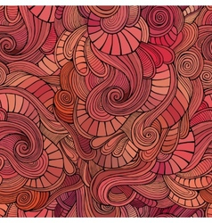 waves decorative doodles seamless pattern vector image