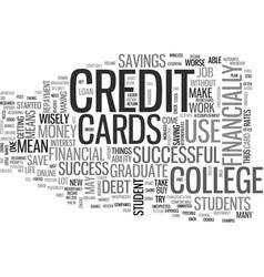a college student s financial success key text vector image