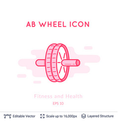 ab wheel icon isolated on white vector image
