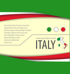 background with italian colors vector image