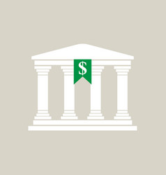 bank in greek style in flat style vector image