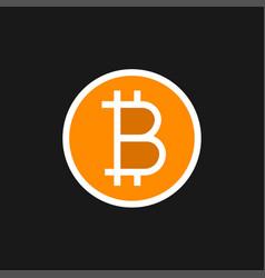 bitcoin cash icon vector image