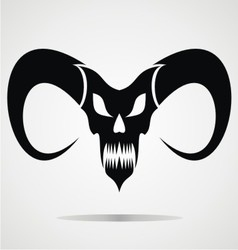 Black Demon Skulls vector image