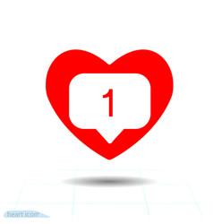 black icon instagram new counter notification vector image
