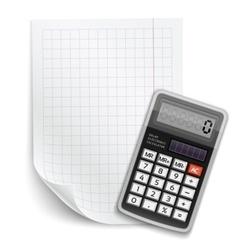 blank sheet paper vector image