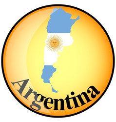 button Argentina vector image