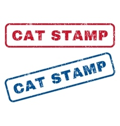 Cat Stamp Rubber Stamps vector image