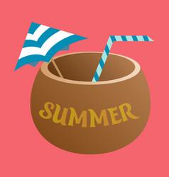 Coconut icon on white background trendy vector