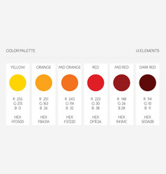 color palette ui elements rgb vector image
